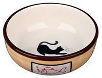 Trixie TX-24658 Ceramic Bowl Миска керамическая для кошек 0,35л/д12см
