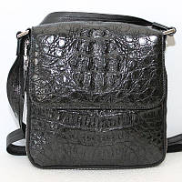 Мужская сумка из кожи крокодила (MZCM 20 H Black), фото 1