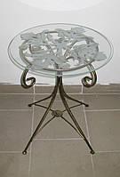 Столик кованый круглый, фото 1