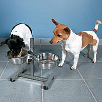 Trixie TX-24921 стояк с 2-мя мисками 2 × 1,8 l/ø 20 cm ,высота 40см (металл) для собак Трикси.