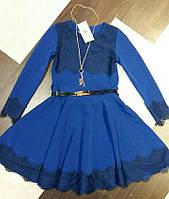 Детское нарядное платье с кружевом,польша