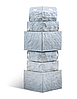 Наружный угол (0,470м.п.) Фигурный Альта-Профиль базальт