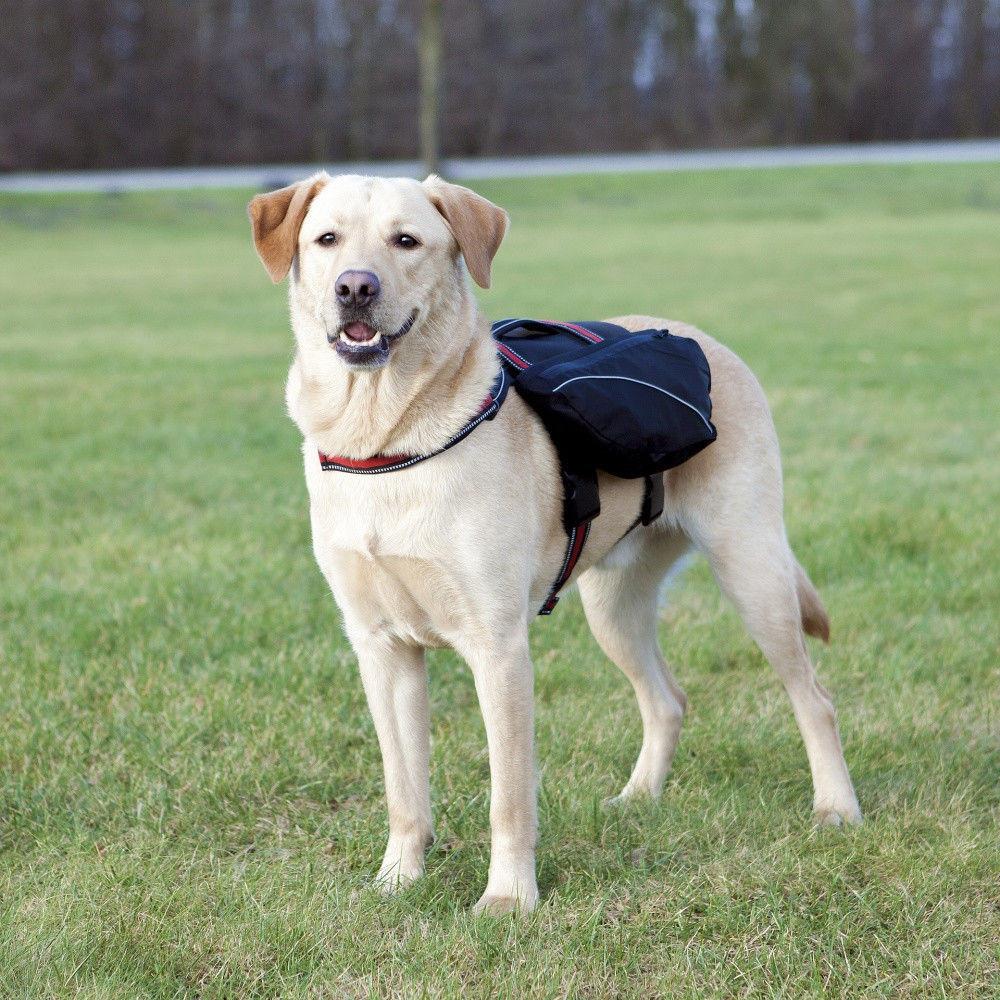 Trixie TX-28833 шлея-рюкзак для собак L (нейлон) 29х15см,черный