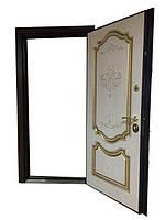 Двери входные Белорусский Стандарт Престиж дуб рустик+патина/ Ясень голд патина