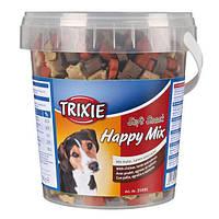 Trixie TX-31496 Soft Snack Bony Mix 500гр- смесь лакомств для собак говядина, баранина, лосось, курица