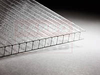 "Лист поликарбонатный сотовый 6000х2100х16 мм ""КОЛОТЫЙ ЛЕД"" Прозрачный Sunnex"