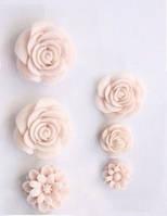 """Набор пластиковых цветочков """"Розово-бежевая пастель"""", фото 1"""