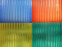 """Лист поликарбонатный сотовый 6000х2100х6 мм """"КОЛОТЫЙ ЛЕД"""" цветной в ассортименте Sunnex"""