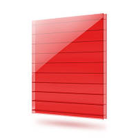 Лист поликарбонатный сотовый 6000х2100х6 мм красный Polynex