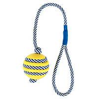 Trixie TX-34961 мяч с шипами (резина) на светящемся канате 5cм/40cм