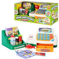 Игрушка касса для девочек 7254 Мой магазин: касса, продукты, монеты, звук, коробка 40х17х17см