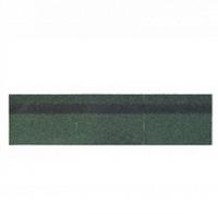 Черепица битумная коньково-карнизная Shinglas зеленый