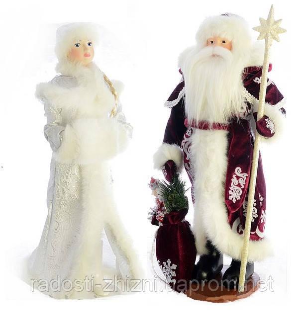 Дед Мороз и Снегурочка под елку 50-53см