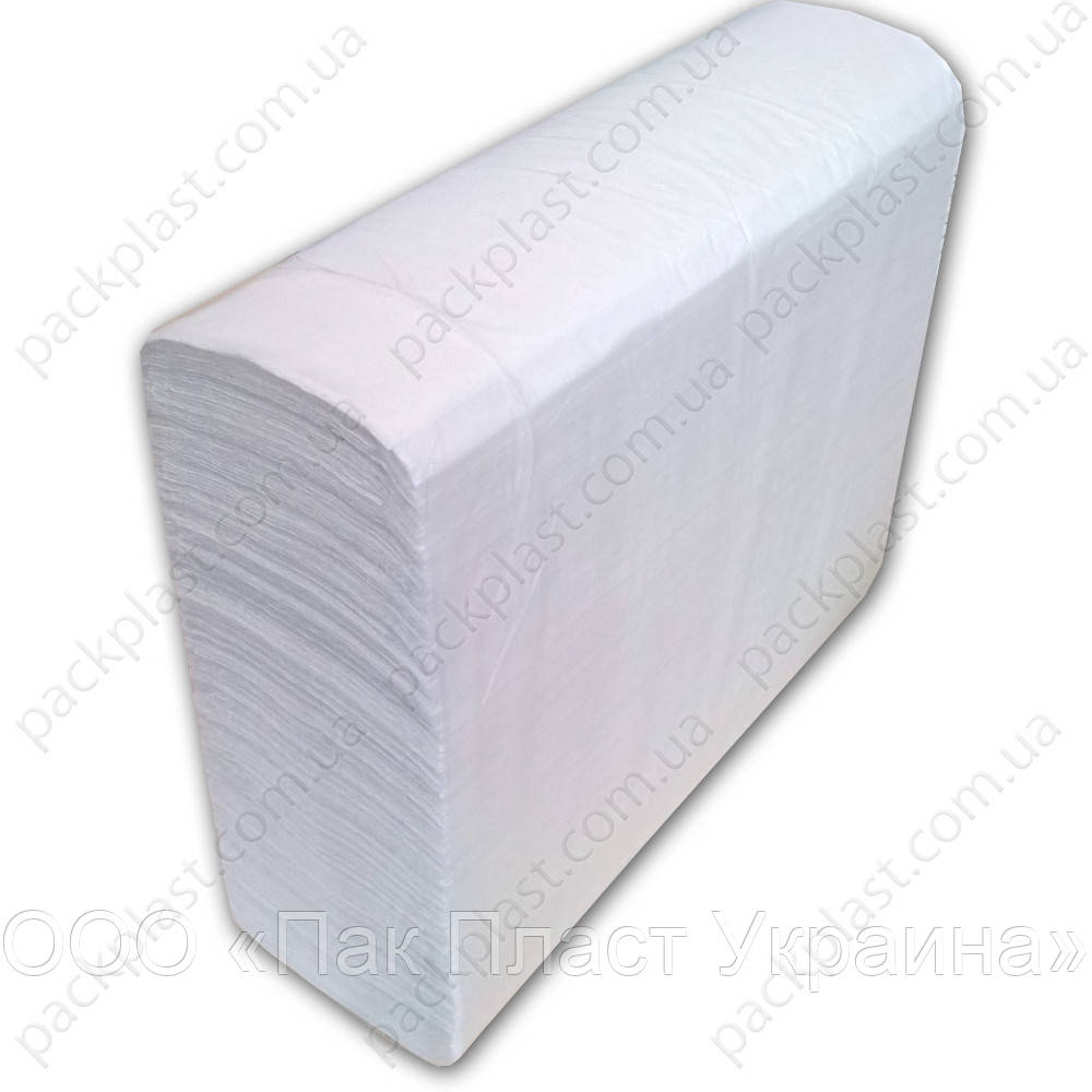 Полотенца листовые Clean Point Lux Large Z, 200 листов, белые