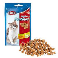 Trixie TX-4266  Dentinos 50г-лакомство для кота с специальной формой для чистки зубов и межзубных пространств
