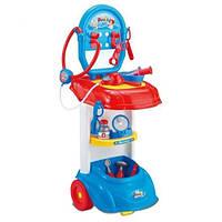 Детский игровой набор доктора 661-170: инструменты, стетоскоп светится, тележка 72х31х25 см