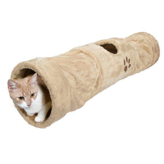 Trixie TX-43001 Тоннель Плюшевый для кота Бежевый 125*25cм