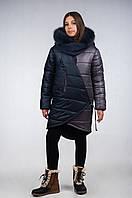 Пальто зимнее из плащевой стеганной ткани для девочки подростка, размеры 38, 40. (арт.К-116)