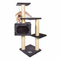 Trixie TX-43787 Когтеточка,дряпка  домик для кота  Palamos  (антрац.)109см