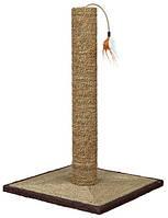 Trixie TX-44891  Когтеточка-столбик Luca c игрушкой, 62 см, морская трава