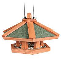 Trixie TX-5569 кормушка подвесная  Natura  для птиц(дерево)42х24см Трикси Натура.