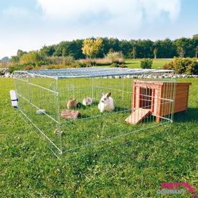 Trixie TX-62452 манеж для животных с крышей (металл) 216х65х116см