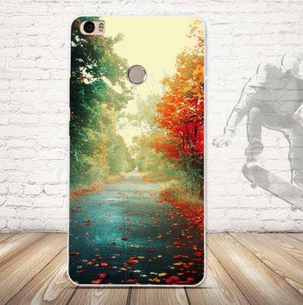 Силиконовый чехол бампер для Xiaomi Mi Max с картинкой Осень