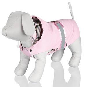 Trixie TX-67107 накидка д/собак Como с капюшоном(полиэстер)45см,розовый