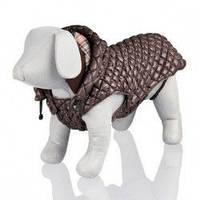 Trixie TX-67112 S куртка  Venezia  с капюшоном для собак 33 см, коричневый