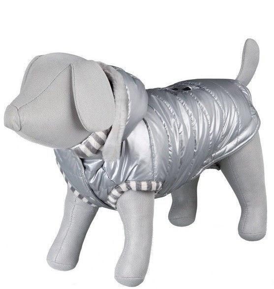 Trixie TX-67523 XS пальто  Dog Prince  с капюшоном для собак 30см, серый