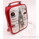Стильный женский рюкзак с принтами, фото 2