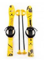 Лыжи детские 90 см., от Marmat Зима, желтого цвета