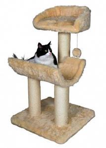 Trixie ТХ- 44061 Когтеточка,дряпка  домик для котов  Mancor  98см, беж.
