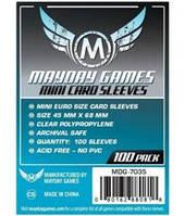 Протекторы (кармашки) Mayday Mini Euro (45 мм х 68 мм)  (Mini Euro sleeves (45 мм х 68 мм))