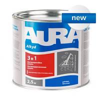 Грунт-Эмаль Aura 3 в 1 белая 2,5 кг