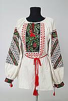 Вышиванка женская длинный рукав  вышивка  калина