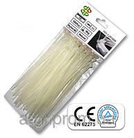 Стяжки кабельные пластиковые белые Neutral 3,6*200мм (100шт)