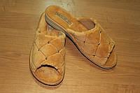 Женские домашние тапочки Белста с открытым носком утепленные махра р-р 40
