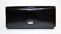 Классический лакированный женский кошелек BALISA черного цвета