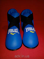 Футы EVERLAST NEW (кикбоксинг, таэквондо ИТФ, контактное карате) Синий, M