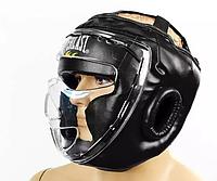 Шлем для единоборств с прозрач.маской FLEX ELAST (черный, р.L)