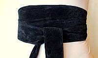 """Пояс женский замшевый черный """"Corset №5"""""""