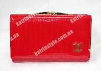 """Стильный женский кошелек из высококачественной лакированной кожи """"Chanel"""""""