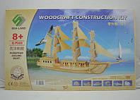 Деревянные 3D пазлы корабль (4 доски), объемный пазл, купить подарок для ребенка