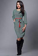 Изящное платье с поясом