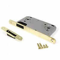 Защелка магнитная под ручку и фиксатор для межкомнатных дверей Apecs 5300-M-WC-G (золото)