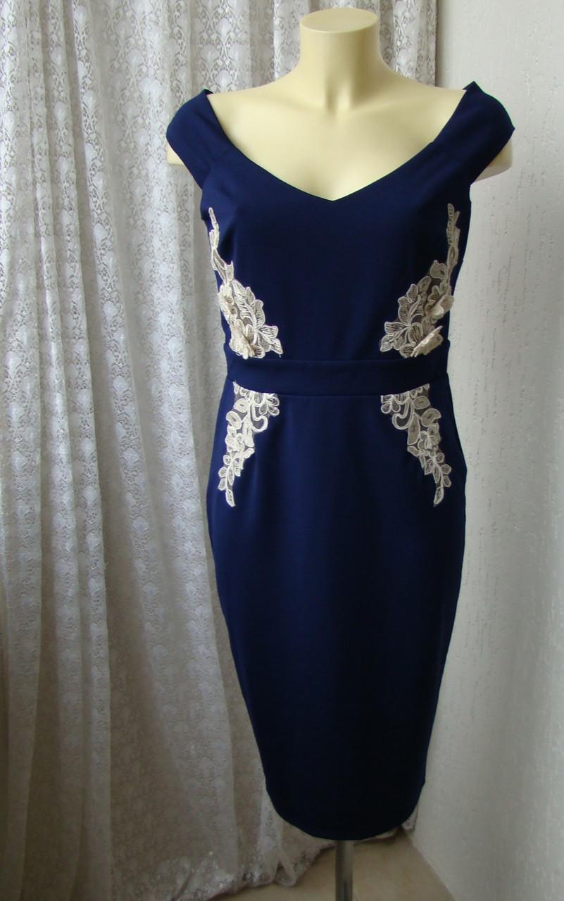 0ff77c40ae4 Платье коктейльное синее Little Mistress р.46 7337 - Chek-Anka.com.