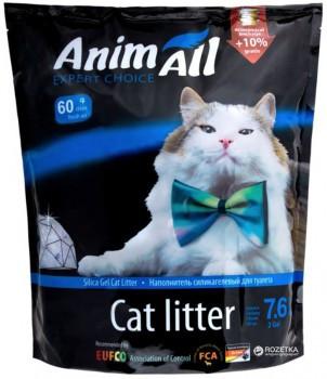 AniMall Голубой аквамарин 7.6 л (3.3 кг) - силикагелевый наполнитель для кошек