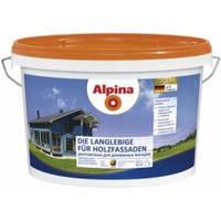 Краска для деревянных фасадов белая Die Langlebige fur Holzfassaden B1 10л под колеровку Alpina