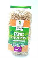 Рис коричневый нешлифованный NATURAL GREEN 400 грамм
